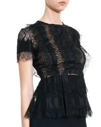 Elie Saab - Black Lace Blouse - Lyst