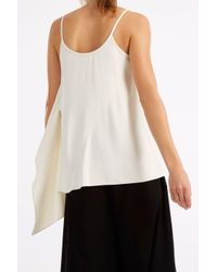 Helmut Lang - White Asymmetric Top - Lyst