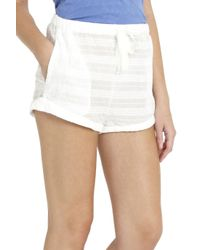 Solid & Striped - White Cotton Shorts - Lyst