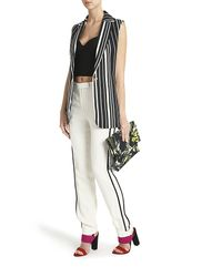 Elie Saab - White Straight Cut Trousers - Lyst