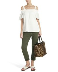 Current/Elliott - White The Madeline Top - Lyst