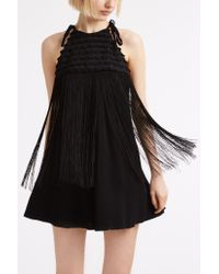 Giamba - Black Heart Tassel Halter Dress - Lyst