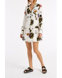 Giamba - Multicolor Printed Pyjama Shirt Dress - Lyst
