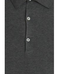 John Smedley - Gray Sea Island Polo Shirt for Men - Lyst