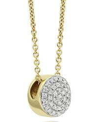 Monica Vinader - Metallic Ava Button Necklace - Lyst