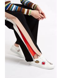 MSGM - Black Side Stripe Trousers - Lyst