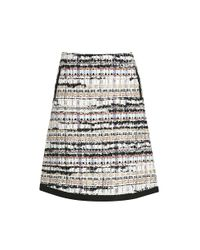 Oscar de la Renta - Natural Tweed Skirt - Lyst
