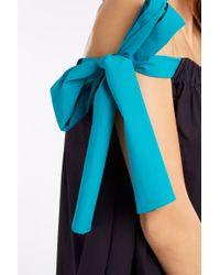 MSGM - Purple Poplin Arm Tie Dress - Lyst