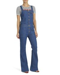 M.i.h Jeans - Blue Dix Flared Dungarees - Lyst