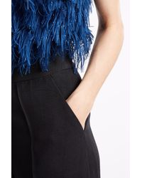 Martin Grant - Blue High Waisted Trousers - Lyst