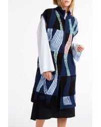 Peter Pilotto - Blue Mosaic Knit Gilet - Lyst