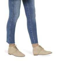 The Row - Natural Ada Suede Ankle Boots - Lyst