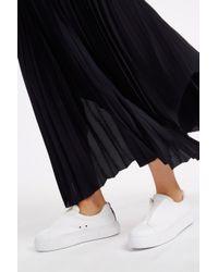 Helmut Lang - Blue Pleated Maxi Skirt - Lyst
