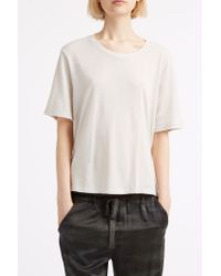 Raquel Allegra - White Shred Back T-shirt - Lyst
