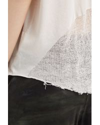 Raquel Allegra - White Shred Back T-shirt - Lyst