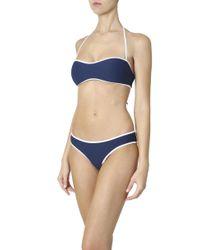 Heidi Klein - Blue Trim Bikini Bottom - Lyst