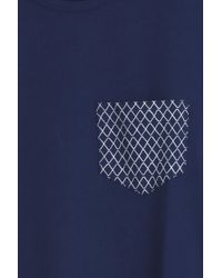 Frescobol Carioca - Blue Wave Pocket T-shirt for Men - Lyst