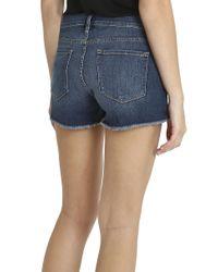 FRAME - Blue Cut Off Shorts - Lyst