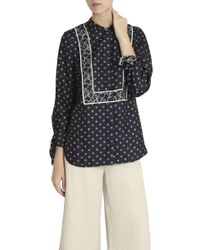 3.1 Phillip Lim - Blue Knot Printed Blouse - Lyst