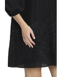 Tibi - Black Embroided Dress - Lyst