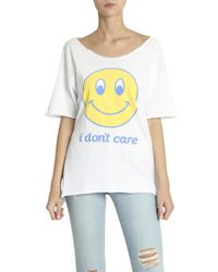 Wildfox - White I Don't Care T-shirt - Lyst