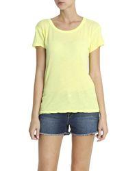 Wildfox - Yellow Take Me Somewhere T-shirt - Lyst