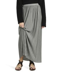 Theory - Gray Pleated Skirt - Lyst