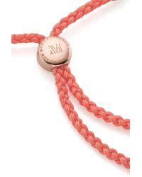 Monica Vinader - Red Fiji Friendship Bracelet - Lyst