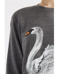 Markus Lupfer - Gray Talking Lip Sequined Sweater - Lyst
