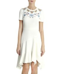 Peter Pilotto - Multicolor Cady Embroidered Dress - Lyst
