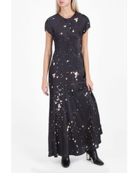 Alexander Wang | Black T-shirt Splatter Gown | Lyst