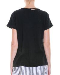 RTA - Black Destroyed T-shirt - Lyst