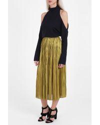 Tibi   Yellow Pleated Skirt   Lyst