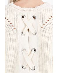 Isabel Marant - Natural Guyo Lace Up Back Jumper - Lyst