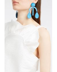 Annie Costello Brown - Blue Arc Drop Chandelier Earrings - Lyst