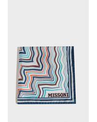 Missoni - Printed Silk Scarf, Size Os, Women, Blue - Lyst