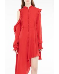 Magda Butrym - Red Marbella Silk Dress - Lyst