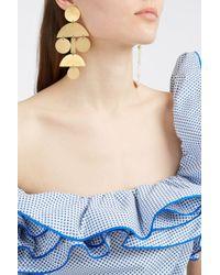 Annie Costello Brown - Multicolor Pom Pom Chandelier Earrings - Lyst