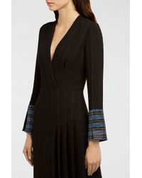 Marco De Vincenzo - Black Sequin-embellished Striped Crepe Gown - Lyst