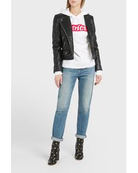 Alexander Wang - White Strict Patch Hoodie - Lyst