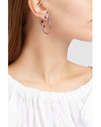 Fernando Jorge   Multicolor Sprouting Lilac-coated 18-karat Gold Diamond And Amethyst Earrings   Lyst