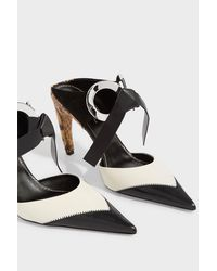 Proenza Schouler - Black Grommet Heel Mules - Lyst