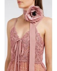Elie Saab - Pink Guipure Lace Gown - Lyst