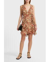 Isabel Marant - Brown Fara Printed Silk-blend Dress - Lyst