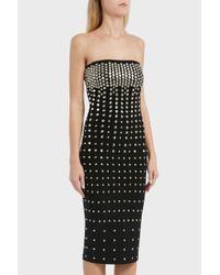 Norma Kamali - Black Stud Detailing Dress - Lyst