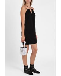 Alexander Wang - Black Cross Strap Jersey Dress - Lyst