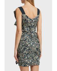 Étoile Isabel Marant - Black Topaz Printed Linen Dress - Lyst