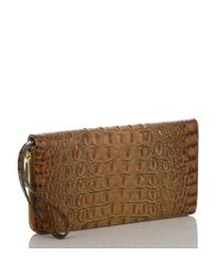 Brahmin - Multicolor Toasted Almond Collection Skyler Croco-embossed Travel Wallet - Lyst