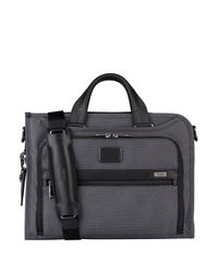 Tumi - Gray ALPHA 2 Business-Tasche DELUXE PORTFOLIO for Men - Lyst