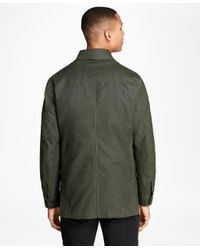 Brooks Brothers - Green Waxed Cotton Barn Coat for Men - Lyst